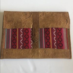 Leather Handmade Hippie Clutch